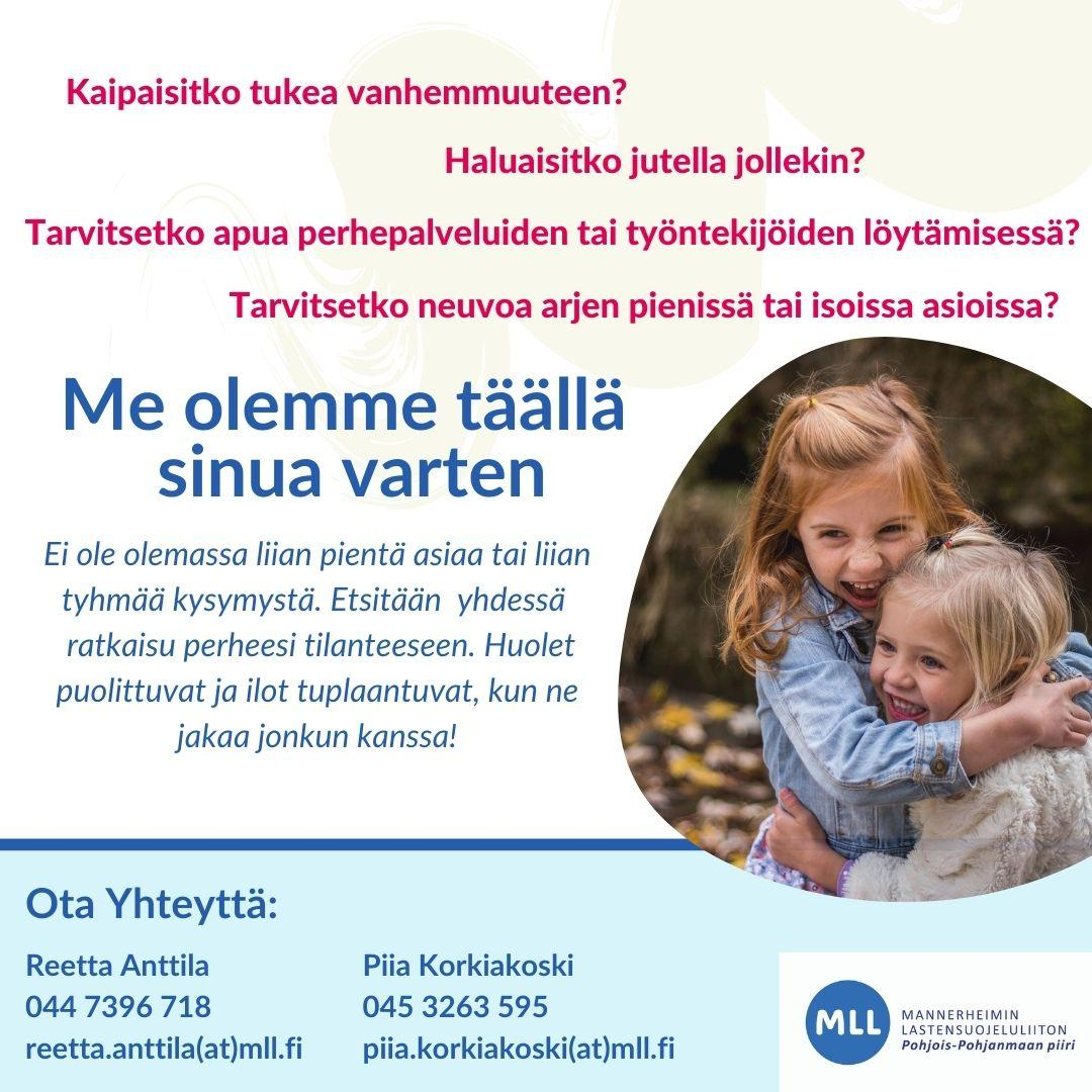 Tukea vanhemmuuteen - ota yhteyttä (MLL) 4.12.2020 alkaen