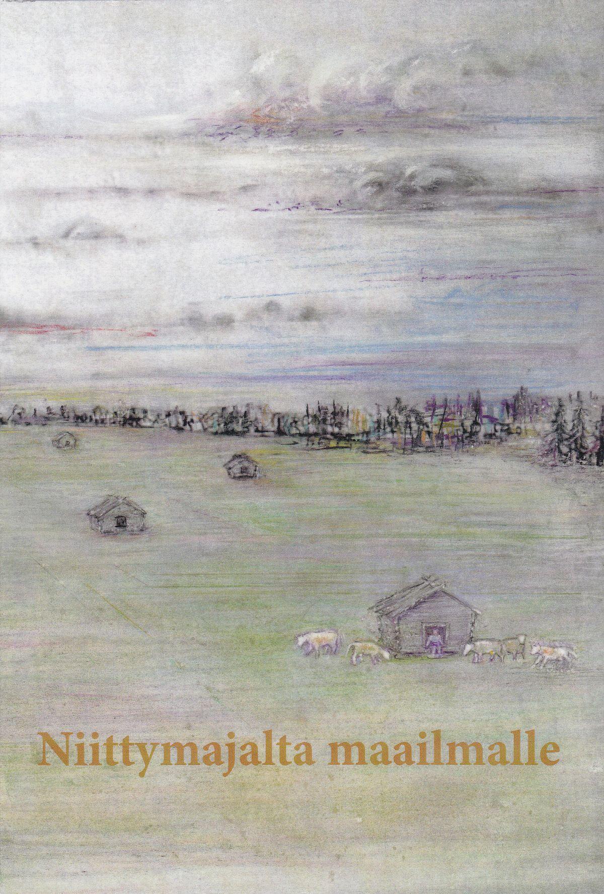 """Niittymajalta maailmalle -teoksen kannessa on Toivo Jaatisen maalaus """"Papinniitty""""."""