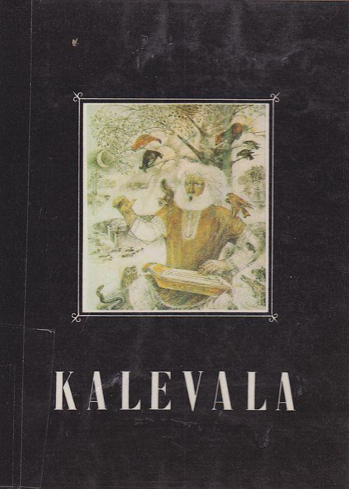 V. I. Kurdovin kuvittaman Kalevalan kansikuvassa Väinämöinen soittaa kannelta.
