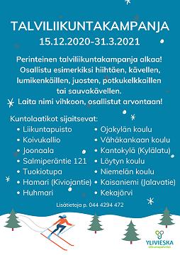 Talviliikuntakampanja 15.12.2020-31.3.2021
