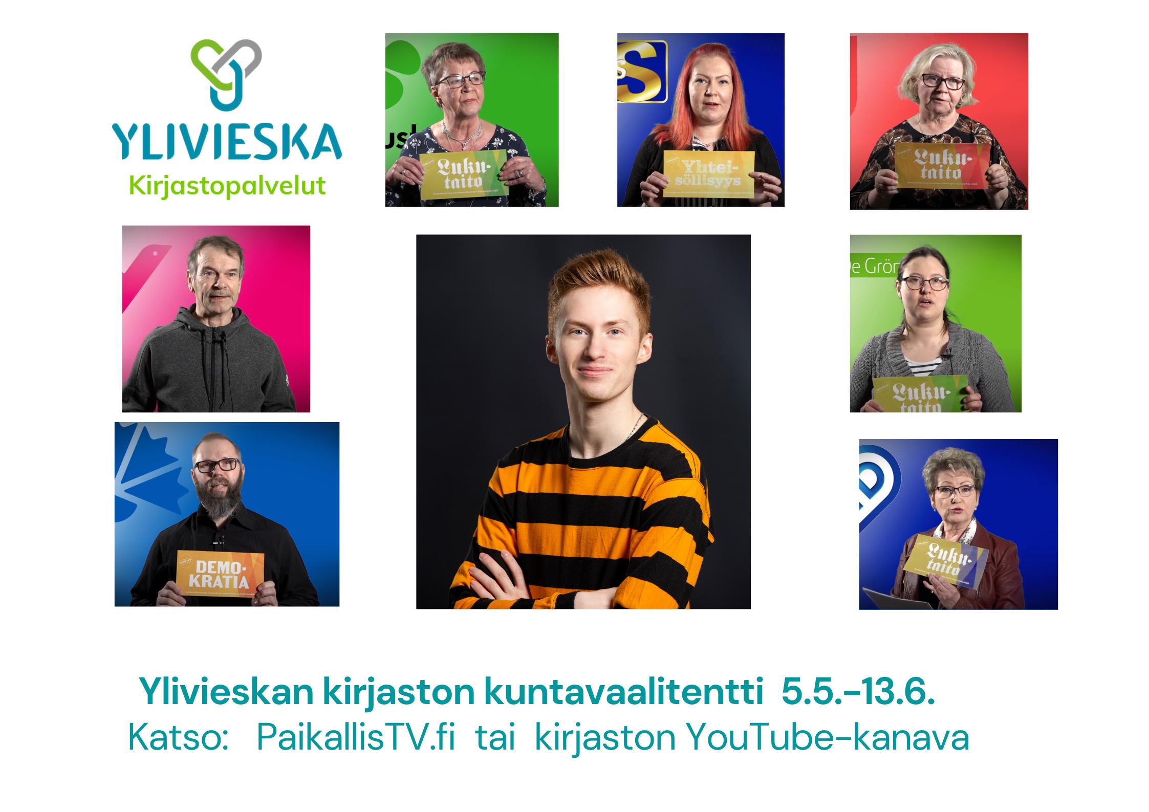 Ylivieskan kirjaston kuntavaalitentti katsottavissa 5.5.-13.6.